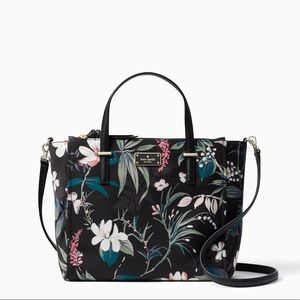 Wilson Road Black Botanical Alyse Crossbody Bag
